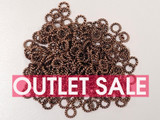 6mm Antique Copper Textured Open Jump Rings 17ga-18ga - Approx. 240 Count or 1 oz (Outlet Sale)