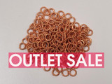 6mm Copper Textured Closed Jump Rings 18ga - Approx. 240 Count or 1 oz (Outlet Sale)