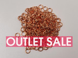 6mm Copper Closed Jump Rings 19ga - Approx. 240 Count or 1 oz (Outlet Sale)