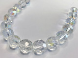12mm Vintage Czech Crystal Faceted Rounds AB Coated