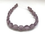 Czech Glass Table Cut Diamond Oval Beads In Purple Amethyst Color (Closeout)