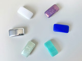 Czech Glass Carrier Beads Assorted Colors - Quantity 15