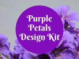 Purple Petals Design Kit