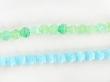 10x8mm Assorted Colors Czech Glass Flower 22 Count Strand