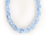 9x6mm Blue Czech Glass Faceted Ovals 20 Count Strand