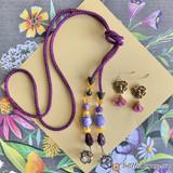 Purple Petals Bead Mix