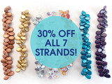 7x5mm Assorted Color Czech Glass Pip Beads Bundle (All 7 Strands)