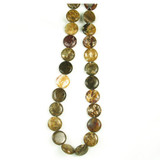 Apx 24 Count 16mm Tiger Jasper Polished Puff Coins (Sale)