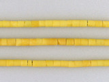 105 Count 3x4mm Afghan Yellow Jade Tubes (Sale)
