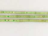 74 Count 3x4mm Afghan Pale Green Jade Tubes (Sale)