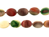 12 Count Varied Size Multicolor Imperial Jasper Polished Ovals (Sale)