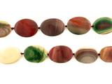 12 Count Varied Size Multicolor Imperial Jasper Polished Ovals (Sale)
