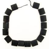 16 Count 23x25mm Matte Finish Onyx Elliptical Squares (Sale)