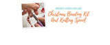 Weekly Video Recap: Christmas Beading Kit And Knitting Spool