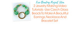 2 Jewelry Making Video Tutorials - Use Czech Glass Beads To Make A Beautiful Earrings, Necklace And Bracelet Set