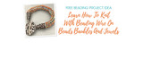 Learn How To Knit With Beading Wire On Beads Baubles And Jewels