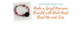 Make a Spiral Macrame Bracelet with Dark Heart Bead Mix and Trios