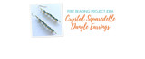 Free Beading Project Idea: Crystal Squaredelle Dangle Earrings