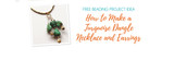 How to Make a Turquoise Dangle Necklace and Earrings