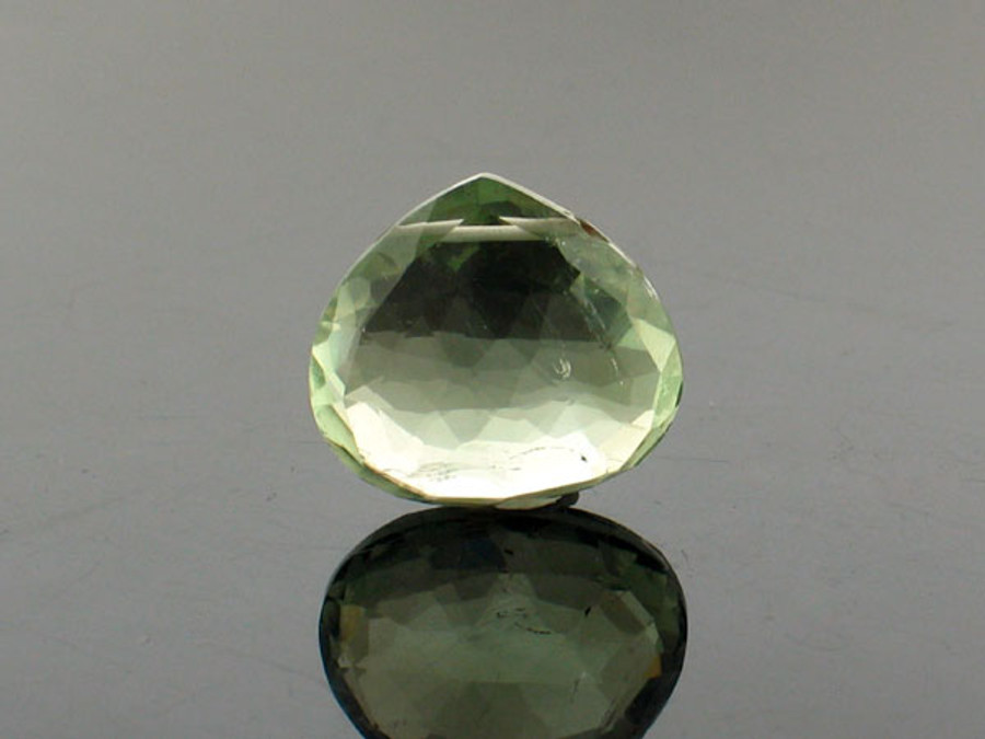 1 Count Large Green Amethyst Faceted Pear (Sale)