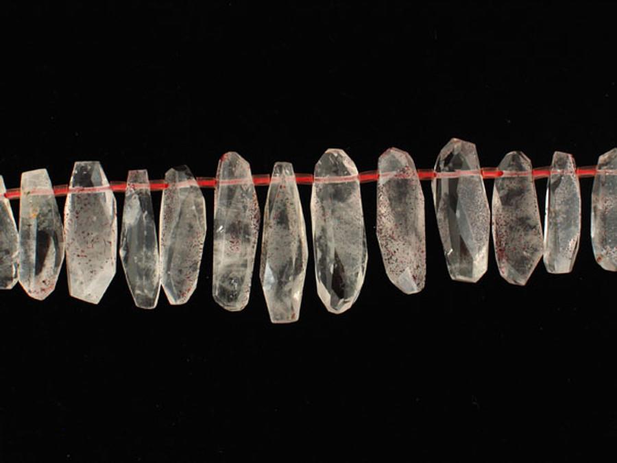 Apx 39 Count Fire Quartz Crystal Points (Sale)
