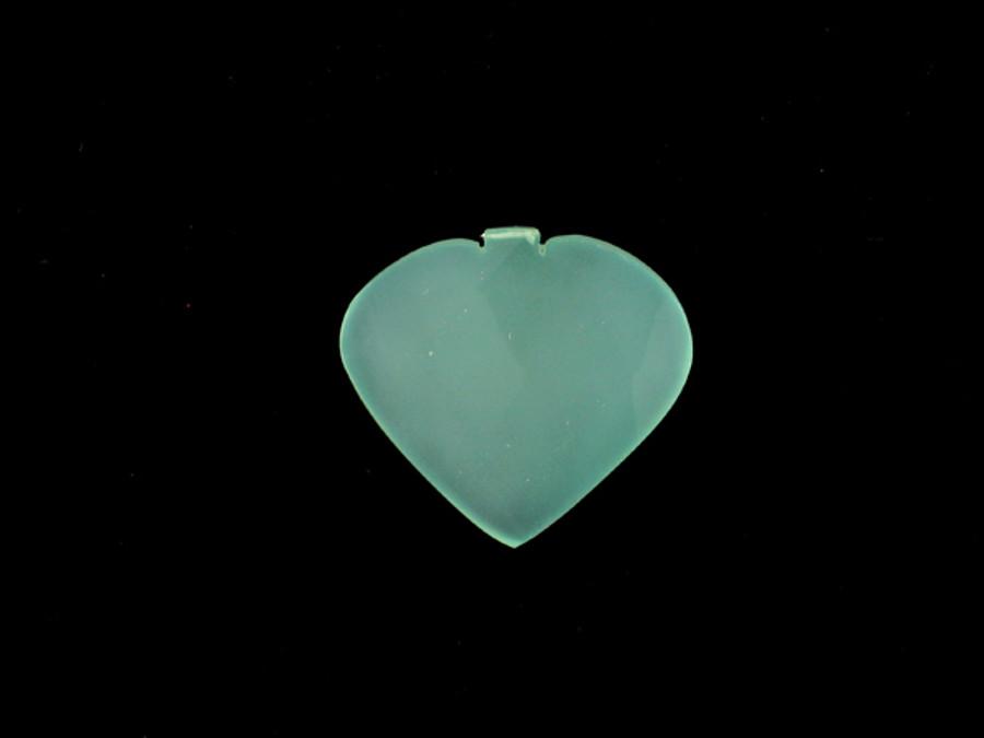 1 Count33x33mm Blue Peruvian Calcite Faceted Heart Pendant (Sale)