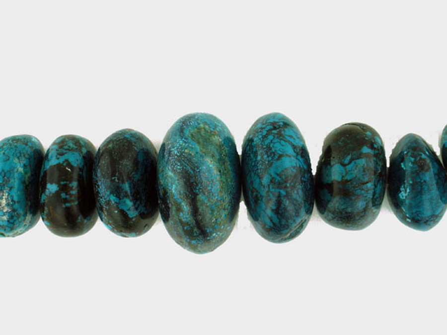 """27 Count Graduated Turquoise Polished Ron """"One Of A Kind"""" (Sale)"""