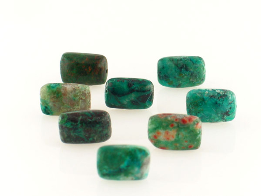 33 Count 12x8mm Chrysocolla Polished Rectangles (Sale)