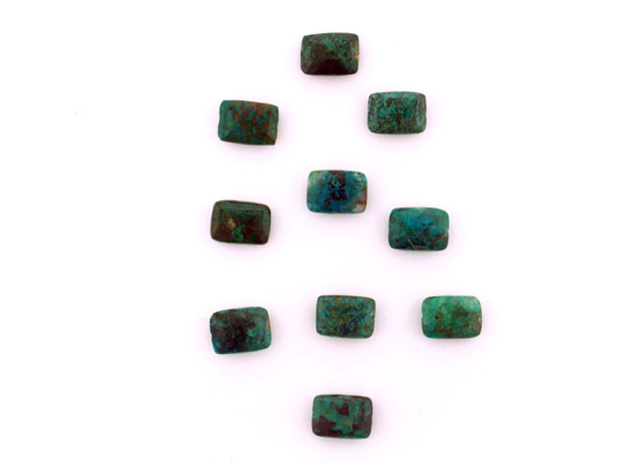 28 Count 14x10mm Chrysocolla Polished Rectangles (Sale)