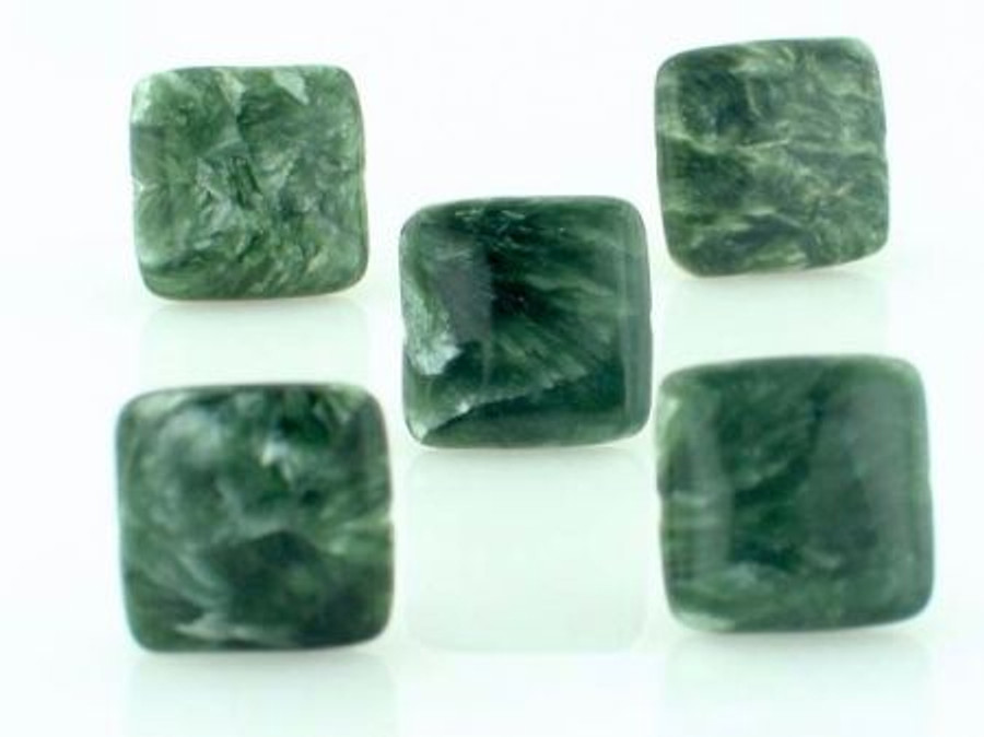 28 Count 14mm Seraphinite Square Gemstones (Sale)