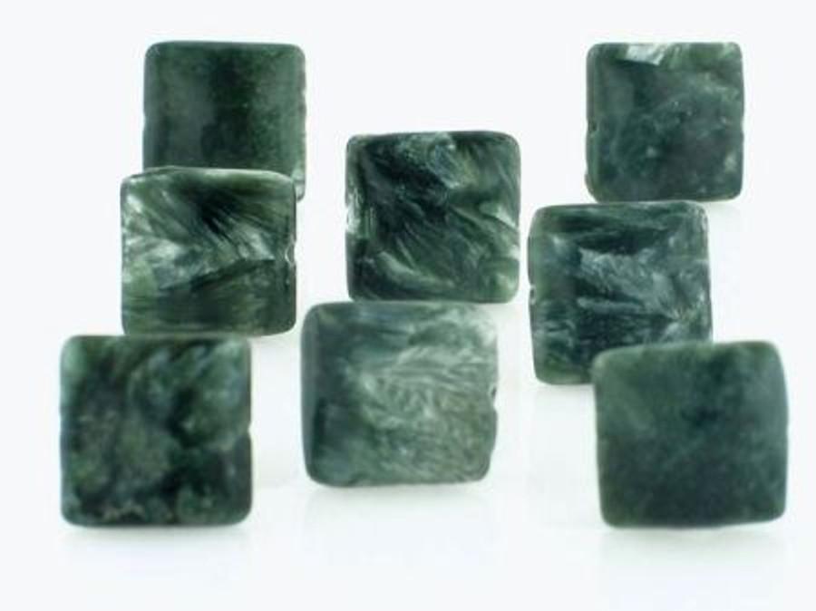 33 Count 12mm Seraphinite Square Gemstones (Sale)