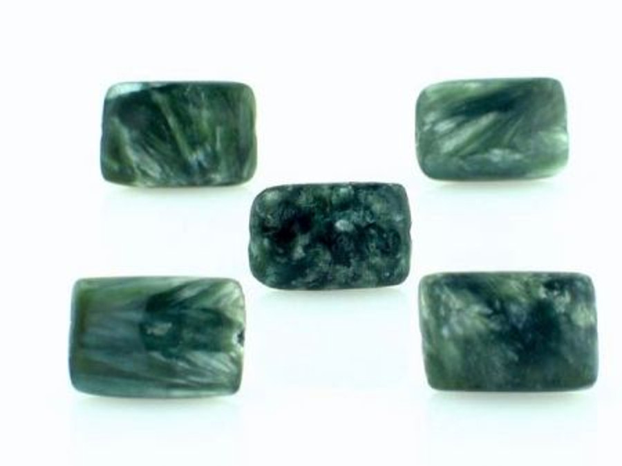 33 Count 12mm Seraphinite Rectangle Gemstones (Sale)