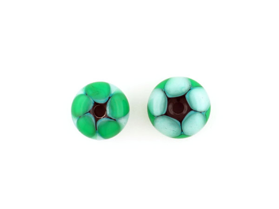 George O'grady's Green Glass Focal Bead