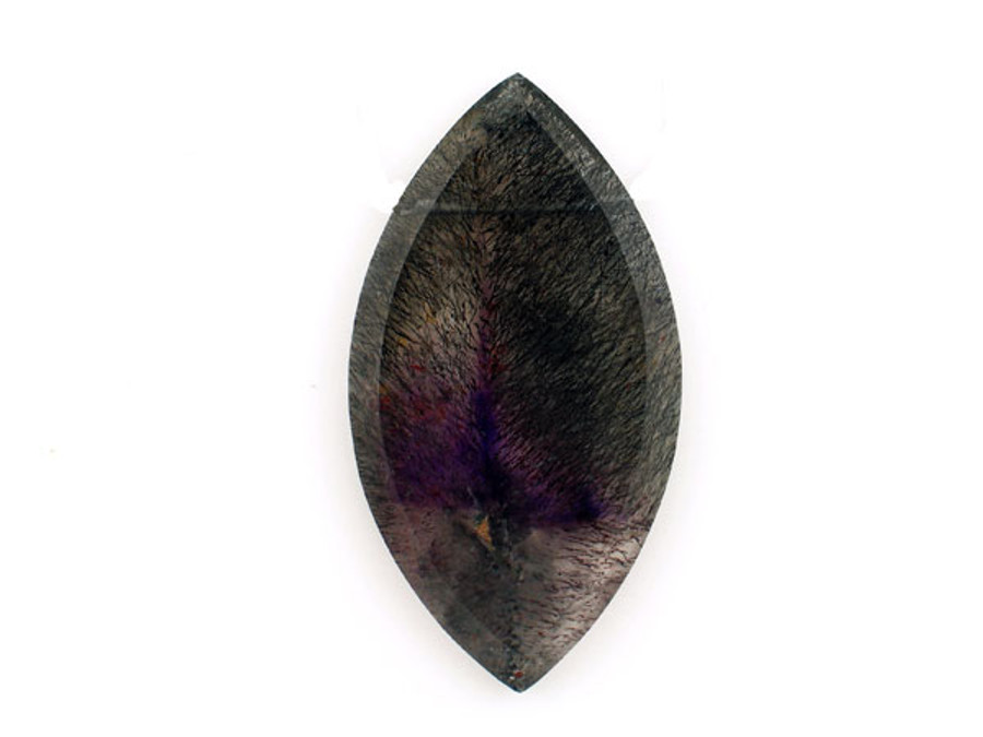 Black And Purple Goethite in Amethyst