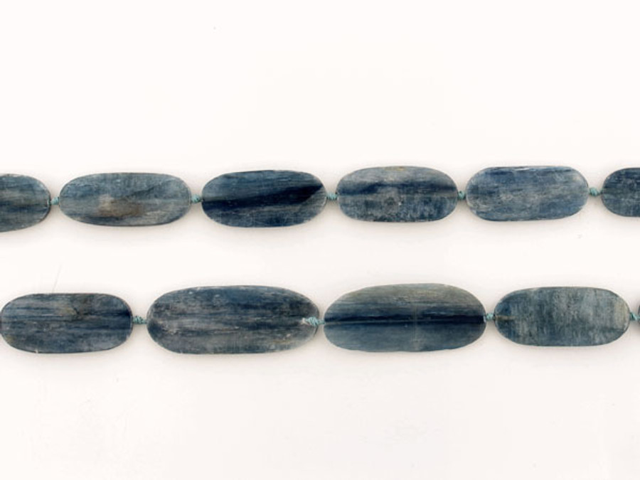 13 Count Graduated  Blue Kyanite Polished Flat Ovals (Sale)