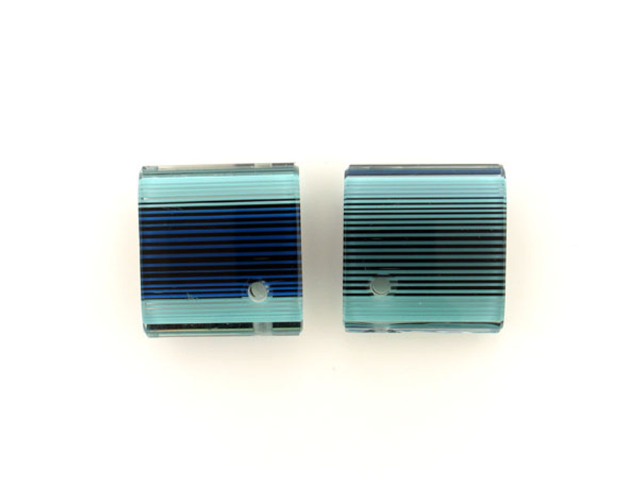 1 Count 36x39mm Luigi Cattelan's Blue Italian Glass Focal Bead (Sale)