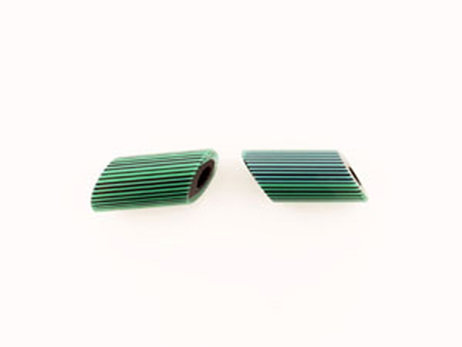 1 Count 17x42mm Luigi Cattelan's Blue-Green Italian Glass Focal Bead (Sale)