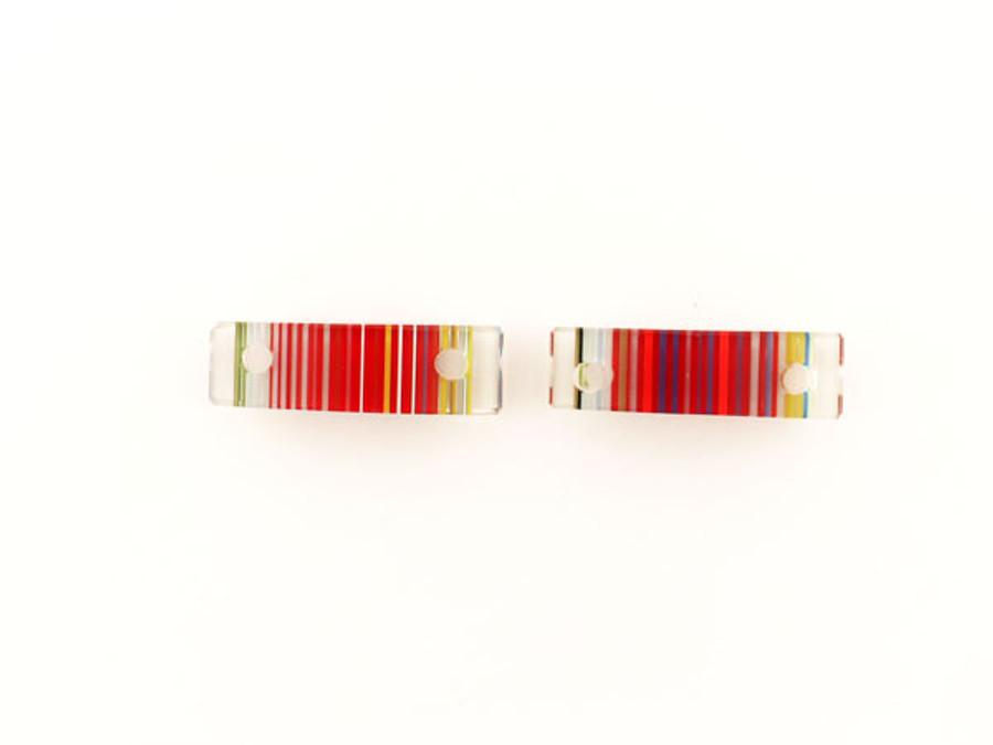 Luigi Cattelan's Multicolor Italian Glass Focal Bead