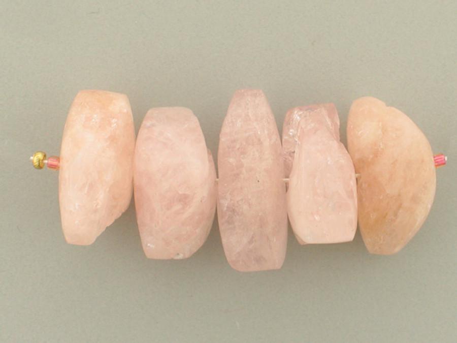 5 Count Varied Sizes Pink Morganite Chunks (Sale)