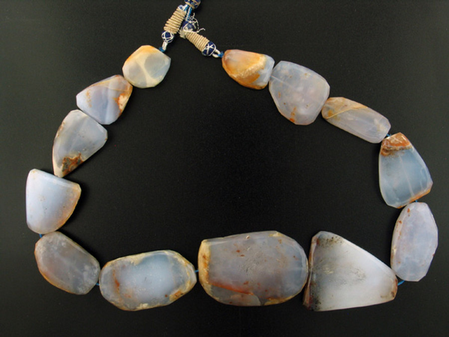 13 Count Graduated Chalcedony Faceted Nuggets/Slabs (Sale)
