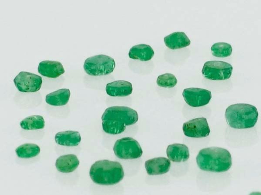 Apx 300 Count Emerald Rondelle Gemstones (Closeout)