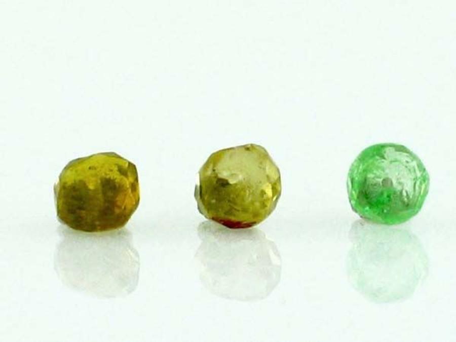 Apx 150 Count Green Garnet Rondelle Gemstones (Sale)