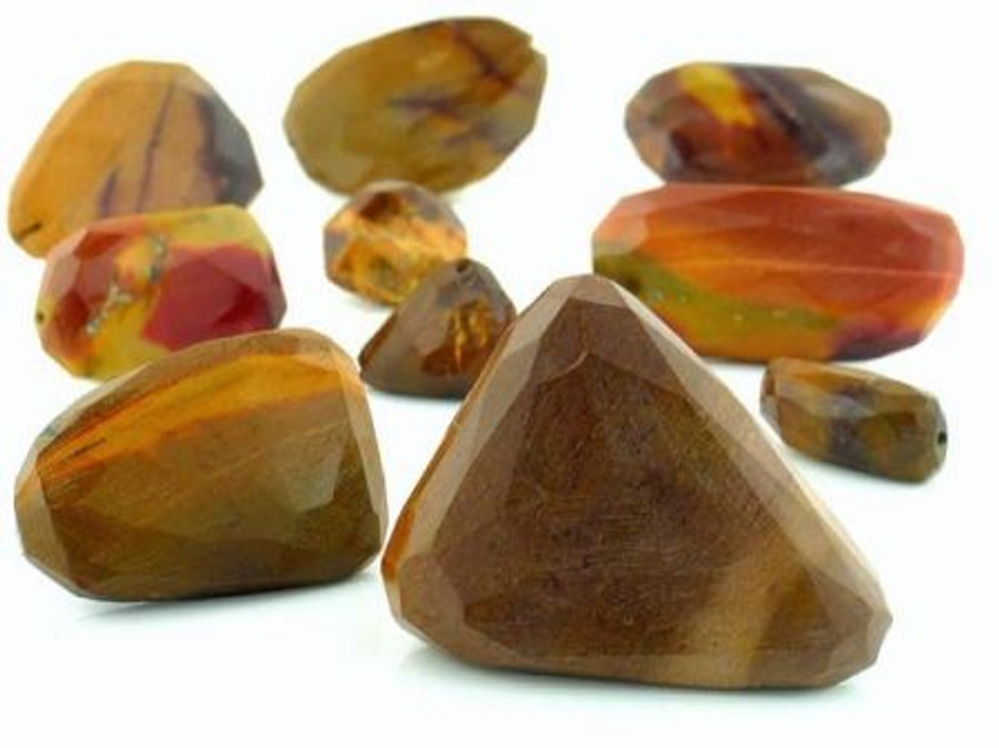 Apx 22 Count Moukaite Slice Gemstones (Sale)