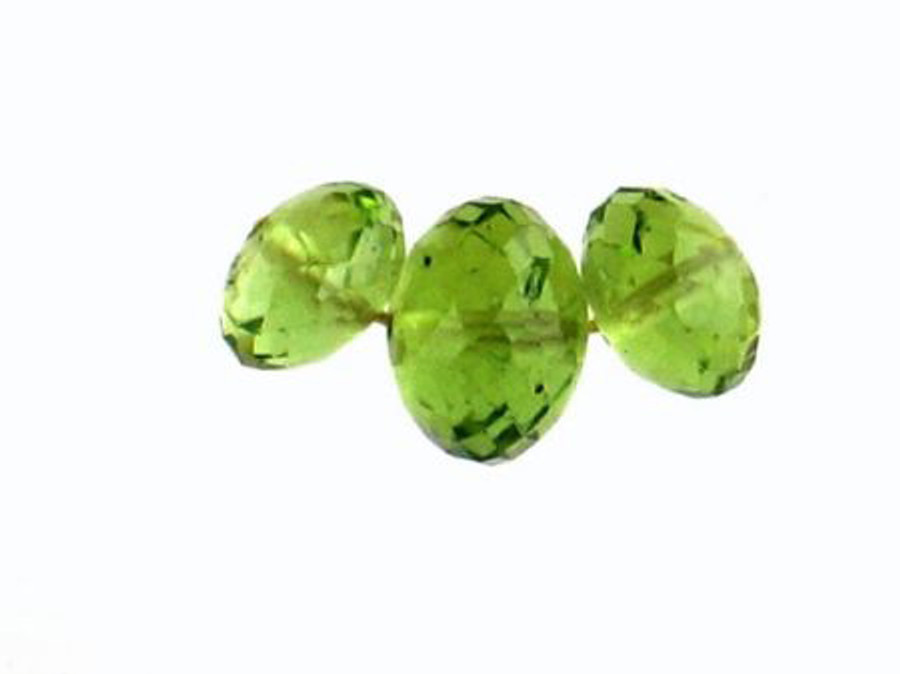 3 Count Graduated Peridot Faceted Rondelles (Sale)