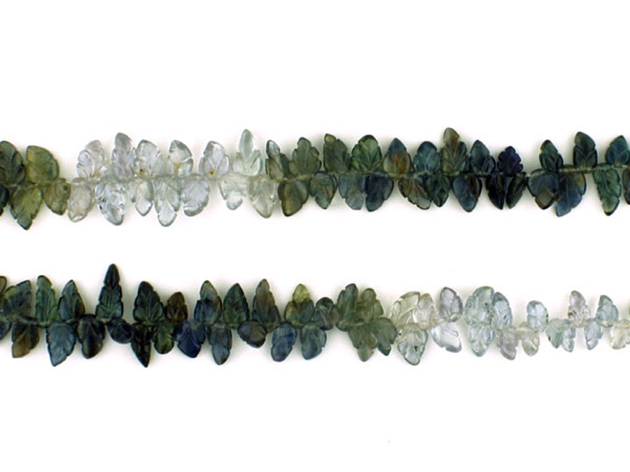 200 Count Graduated Varied Color Sapphire Carved Leaves (Sale)