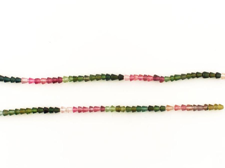 120 Count Multi Colored Tourmaline Cone Gemstones (Closeout)