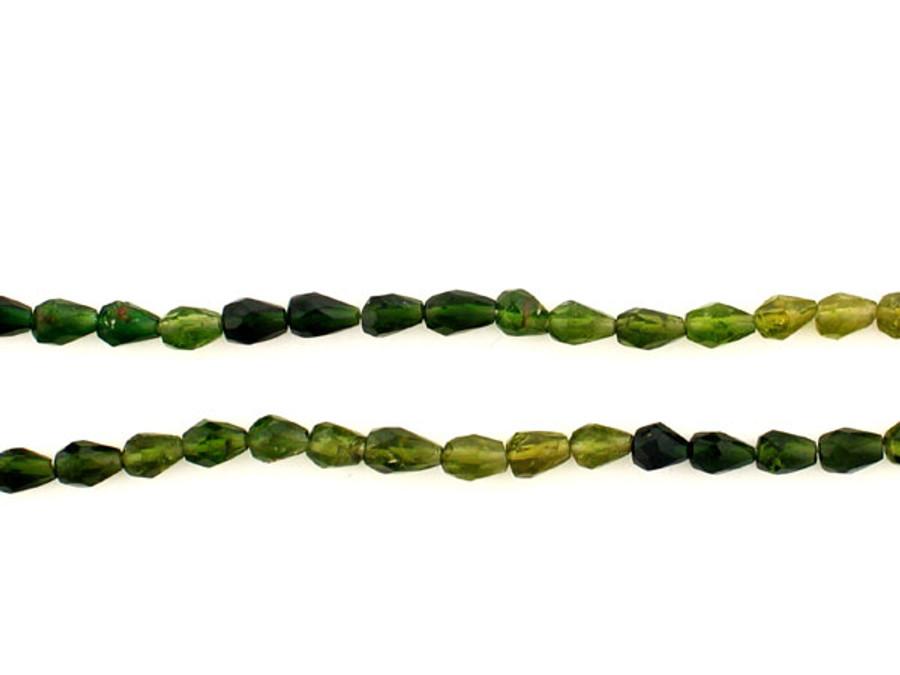 70 Count Green Tourmaline Bicone Gemstones (Sale)