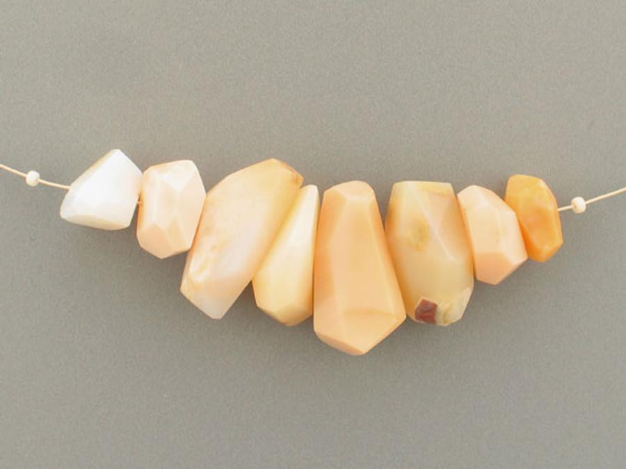8 Count Varied Size Beige Oregon Opal Simple Cut Nuggets (Sale)