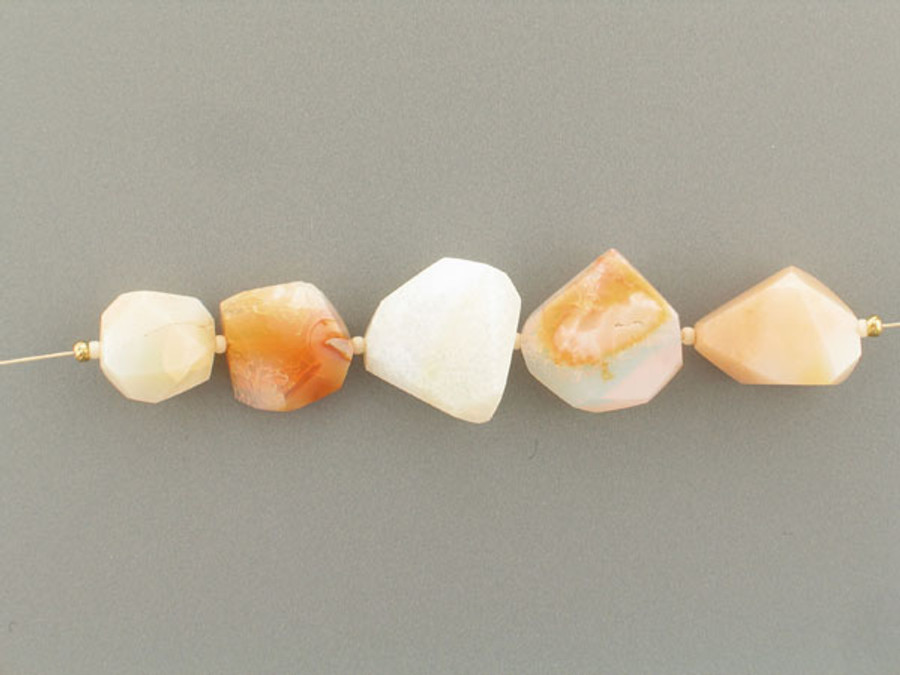 5 Count Varied Size Beige Oregon Opal Simple Cut Nuggets (Sale)