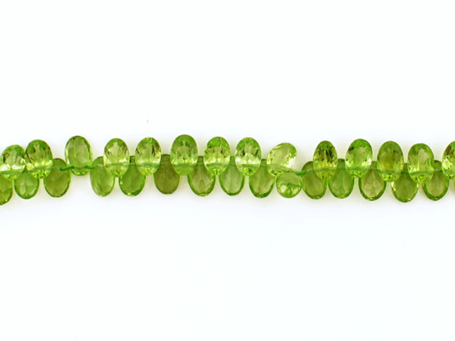 90 Count 6x4mm Peridot Faceted Top Drilled Ovals (Sale)